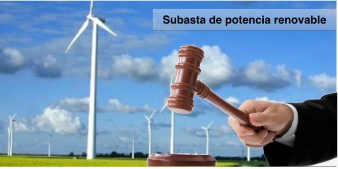 Subasta de potencia renovable